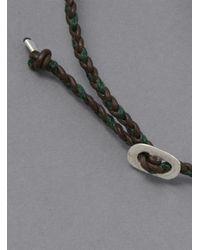 Scosha - Metallic Double Wrap Bracelet for Men - Lyst