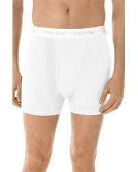Calvin Klein | White Boxer Briefs for Men | Lyst