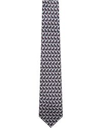 Ferragamo | Blue Flying Ducks Silk Tie for Men | Lyst