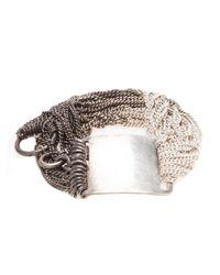 Ann Demeulemeester | Metallic Id Bracelet | Lyst