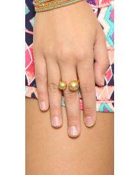 Madewell Metallic Odd Ball Ring - Vintage Gold