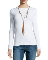 Johnny Was | Multicolor Braided Long Tassel Necklace | Lyst