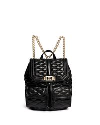 Rebecca Minkoff | Black 'love' Quilted Leather Backpack | Lyst