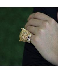 Wendy Yue Metallic Panther Ring