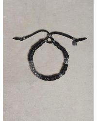 John Varvatos Black Wrapped Leather Bracelet for men