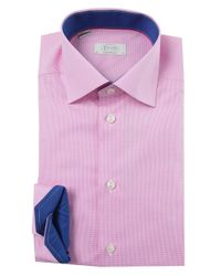Eton of Sweden - Purple Contemporary Fit Micro Gingham Shirt for Men - Lyst