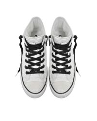 Converse All Star Hi White Quilted Fabric Sneaker