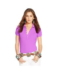 Polo Ralph Lauren - Purple Skinny Stretch Polo Shirt - Lyst