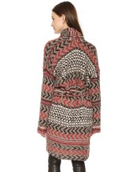 Free People Gray Iona Pattern Wrap Cardi