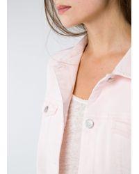 Mango Pink Denim Jacket