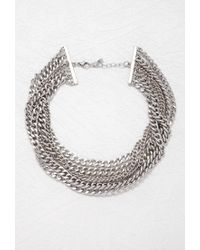 Forever 21 | Metallic Layered Curb Chain Necklace | Lyst
