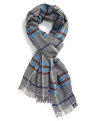 Etro - Blue Plaid Wool for Men - Lyst