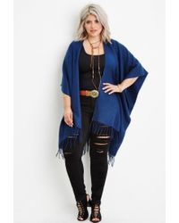 Forever 21 | Blue Plus Size Fringed Shawl | Lyst