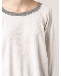 Bliss and Mischief White Ribbed T-Shirt