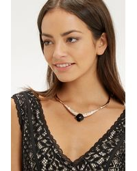 Oasis | Pink Collar Stone Necklace | Lyst