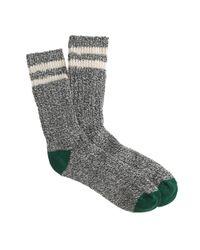 J.Crew - Gray Men's Camp Socks for Men - Lyst