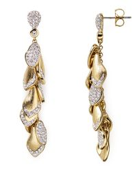 Nadri - Metallic Petals Shaky Earrings - Lyst