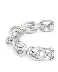 Forever 21 | Metallic Chain-Link Stretch Bracelet | Lyst