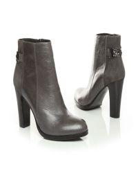 Moda In Pelle | Gray Marcela High Smart Short Boots | Lyst