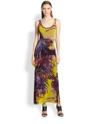 Jean Paul Gaultier | Yellow Palmprint Maxi Dress | Lyst