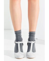 Urban Outfitters Gray Lily T-strap Heel