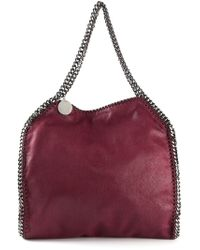 Stella McCartney | Black Bordeaux Vegan Suede 'Falabella' Chain Link Tote Bag | Lyst