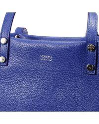 V73 Blue Handbag New Venezia Leather Shopping Bag