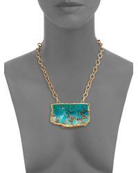 Nest - Blue Chrysocolla Pendant Necklace - Lyst