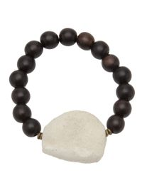 Ali Grace Jewelry - Black Ebony and Agate Bracelet - Lyst