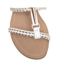 Miss Kg | White Rosalie Flat Strappy Sandals | Lyst