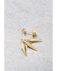 Forever 21 | Metallic Makko Triple Spike Earrings | Lyst