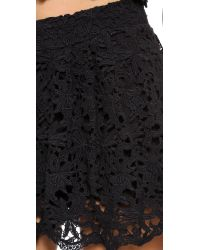 Nightcap Daisy Crochet Flare Shorts - Black