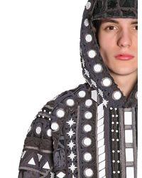 KTZ Gray Side Zipped Cotton Terrycloth Sweatshirt for men