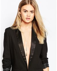 ASOS   Metallic Limited Edition 70'S Leaf Necklace   Lyst