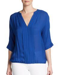 Joie Blue Marru Silk Top