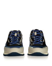 Lanvin - Blue Running Low-top Contrast-panelled Trainers for Men - Lyst