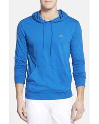 Lacoste | Blue Jersey Hoodie for Men | Lyst
