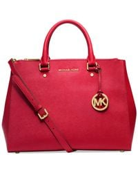 Michael Kors - Red Michael Sutton Large Satchel - Lyst