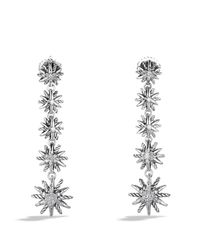 David Yurman - Metallic Starburst Drop Earrings With Diamonds - Lyst