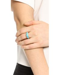 Pamela Love - Blue Inlay Cocktail Ring - Turquoise/Gold - Lyst