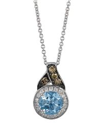 Le Vian | Blue 14k White Gold And Aqua Pendant With Chocolate And Vanilla Diamonds | Lyst