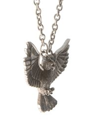 ASOS | Metallic Necklace with Owl for Men | Lyst