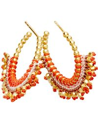 Astley Clarke | Multicolor Hot Coral Woven Earrings | Lyst