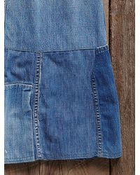 Free People - Blue Vintage Ranch Craft Denim Skirt - Lyst