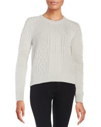 1.STATE Metallic Cable Knit Sweater