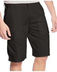 American Rag | Black Solid Cargo Shorts for Men | Lyst