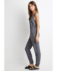 Forever 21 - Gray Print Jumpsuit - Lyst