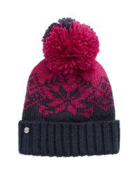 Spyder | Pink Pom-pom Knit Hat | Lyst