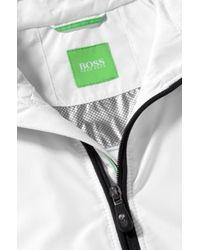 BOSS Green White Rain Jacket 'Japaro' In A Water-Repellent Material for men