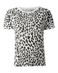 Saint Laurent Black Leopard Print Tshirt